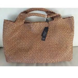 FALOR FALORNI Firenze Italia Leather Tote Bag